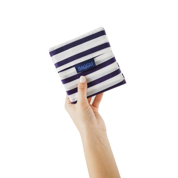 メール便 BAGGU バッグ STANDARD スタンダード【Sailor Stripe】ストライプ ネイビー ホワイト エコバッグ ナイロンバッグ ショッピングバッグ トートバッグ|delicious-y|03