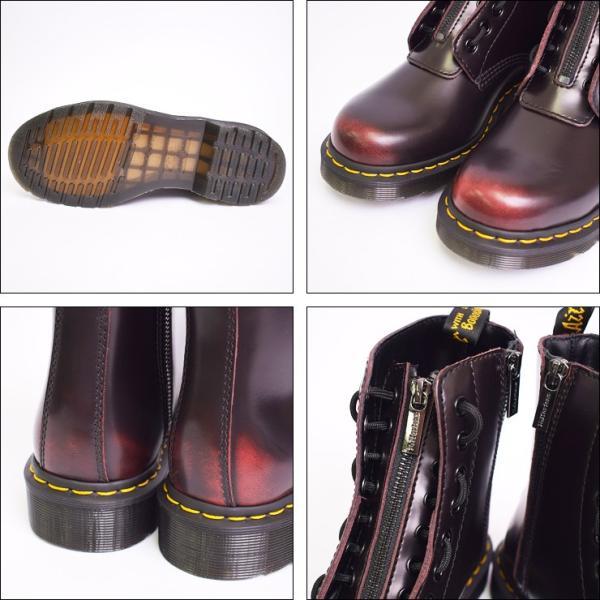 Dr.Martens ドクターマーチン R24330600 1460 PASCAL FRONT ZIP CHERRY RED パスカル フロントジップ メンズ ウィメンズ レディス ブーツ チェリーレッド|delicious-y|03