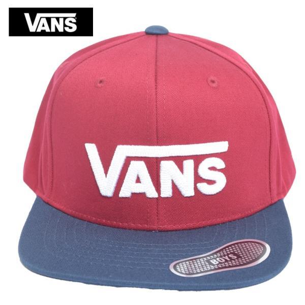 VANS APPAREL  VN0A36OUTN3 DROP V II SNAPBACK BOYS BIKING  ボーイズ キッズ キャップ 帽子|delicious-y