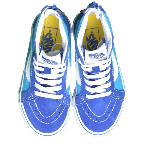 VANS KIDS バンズ キッズ VN0A4BUXXNM SK8-HI ZIP V Arcade Dresden Blue True White スケートハイジップ ブルー ホワイト 子供 靴 スニーカー delicious-y 02