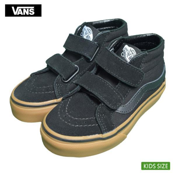 VANS KIDS バンズ キッズ VN0A38HHXNR SK8-MID REISSUE V Black Gum スケートミッド リイッシューV ブラック 子供 靴|delicious-y