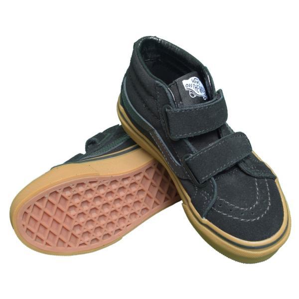 VANS KIDS バンズ キッズ VN0A38HHXNR SK8-MID REISSUE V Black Gum スケートミッド リイッシューV ブラック 子供 靴|delicious-y|03