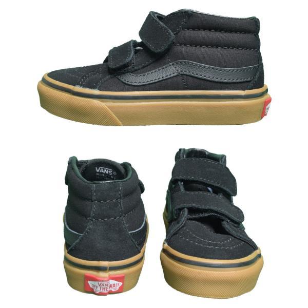 VANS KIDS バンズ キッズ VN0A38HHXNR SK8-MID REISSUE V Black Gum スケートミッド リイッシューV ブラック 子供 靴|delicious-y|04