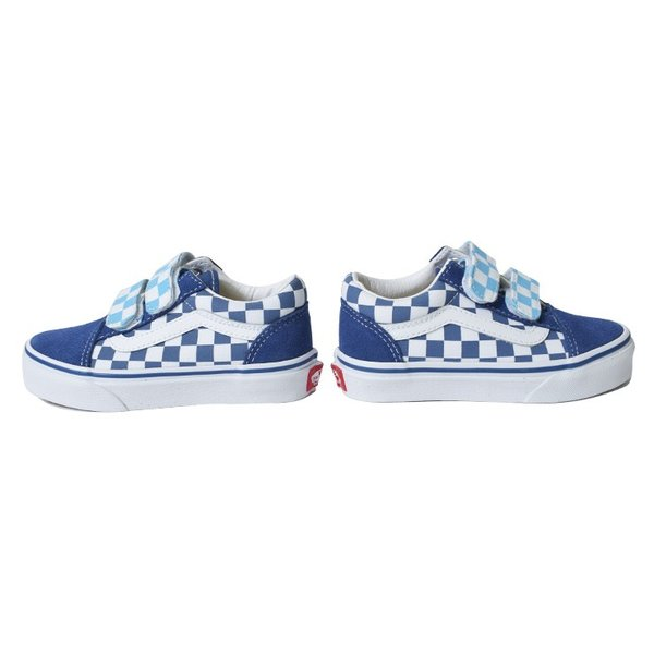 VANS KIDS バンズ キッズ VN0A38HDVDX OLD SKOOL V Checkerboard オールドスクールV ブルー 子供 靴|delicious-y|03