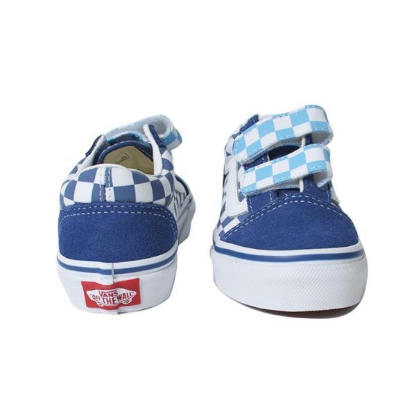 VANS KIDS バンズ キッズ VN0A38HDVDX OLD SKOOL V Checkerboard オールドスクールV ブルー 子供 靴|delicious-y|04