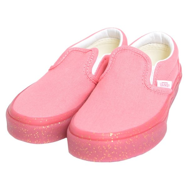 VANS KIDS バンズ キッズ VN0A32QIVUM CLASSIC SLIP ON Glitter Outsole Pink Gold Glitter クラシックスリッポン ピンク グリッター ラメ 子供 靴|delicious-y|02