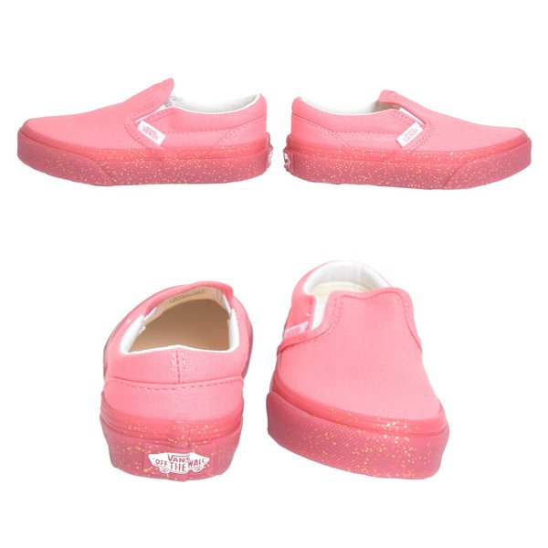 VANS KIDS バンズ キッズ VN0A32QIVUM CLASSIC SLIP ON Glitter Outsole Pink Gold Glitter クラシックスリッポン ピンク グリッター ラメ 子供 靴|delicious-y|04