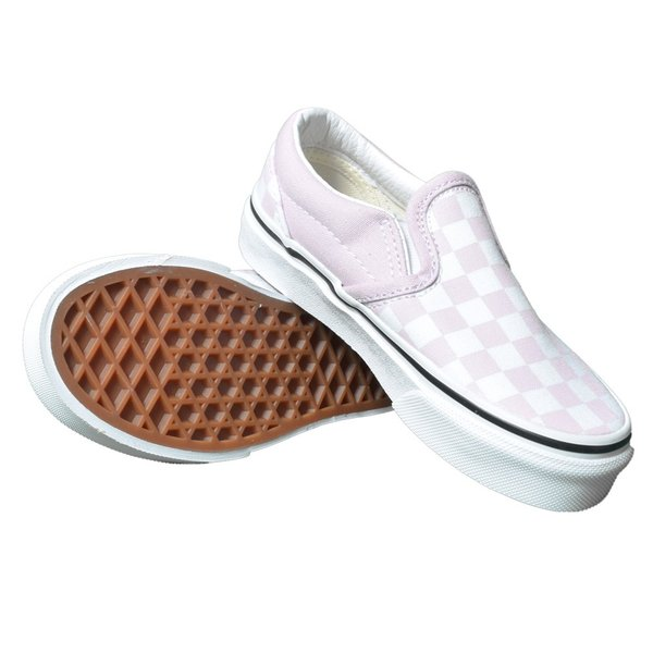 VANS KIDS バンズ キッズ VN0A4BUTUY4 CLASSIC SLIP-ON (Checkerboard) Lilac Snow/True White クラシックスリッポン ピンク ホワイト 子供 靴|delicious-y|03