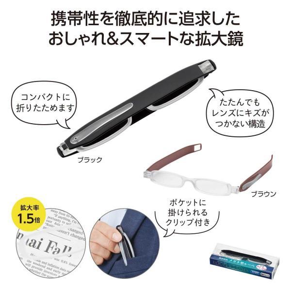 携帯便利 メガネ型ルーペ ネコポス可(3個まで) コンパクト収納 景品 プチギフト 粗品 販促