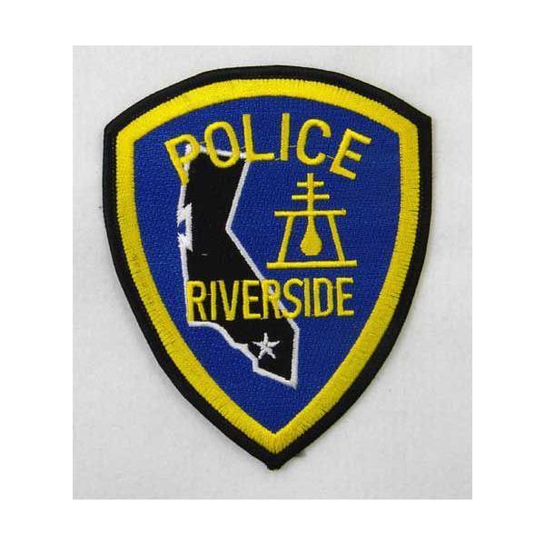 ワッペン POLICE RIVERSIDEのワッペン(Smallサイズ) アイロンで貼り付け可能