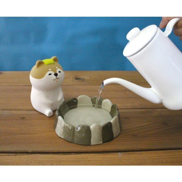 デコレ 潤いマスコット 露天風呂 くま 電源のいらない エコ 加湿器 AG-74912【クリックポスト不可】|delight-shop|02