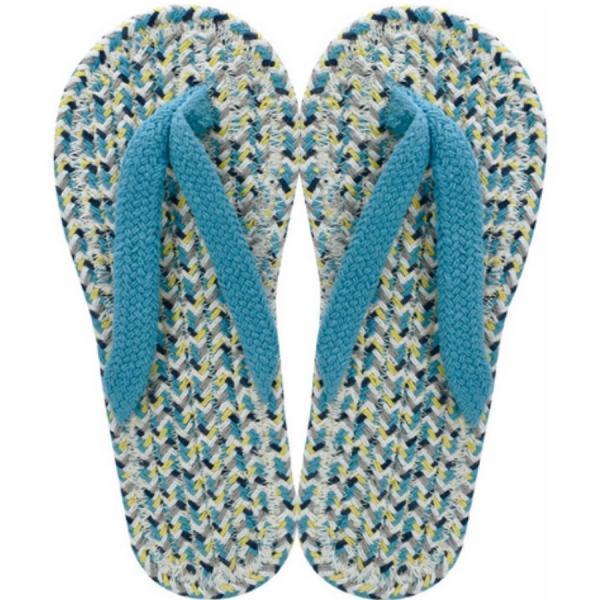 コットンサンダルメンズLIGHTBLUEスリッパ布草履ぞうり室内履き綿クリックポスト対応