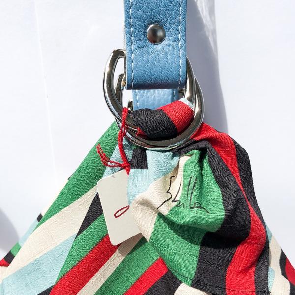シビラ ふろしきバッグ コンポシシオン ブラック ふろしきハンド BDロアール ブルー ふろしき 二巾 75cm クリックポスト対応