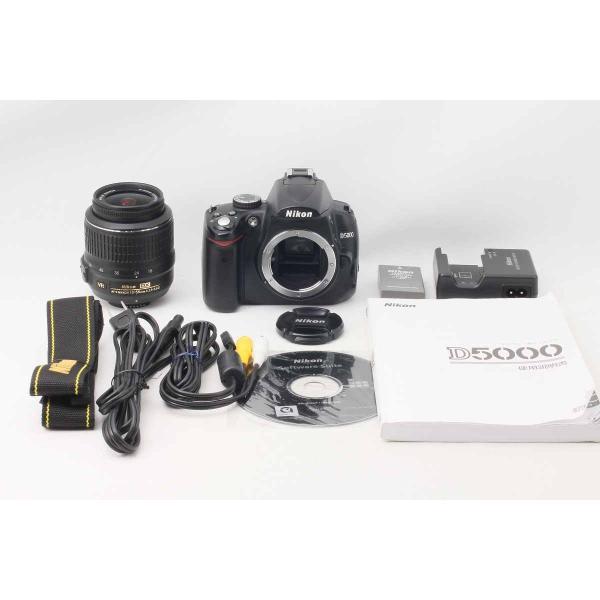 デジタル一眼レフカメラ Nikon D5000 18-55 VR Kit レンズキット 13129