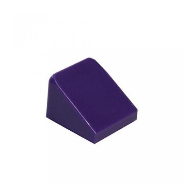 New LEGO Lot of 12 Dark Purple 1x1x2//3 Mini Slope Pieces