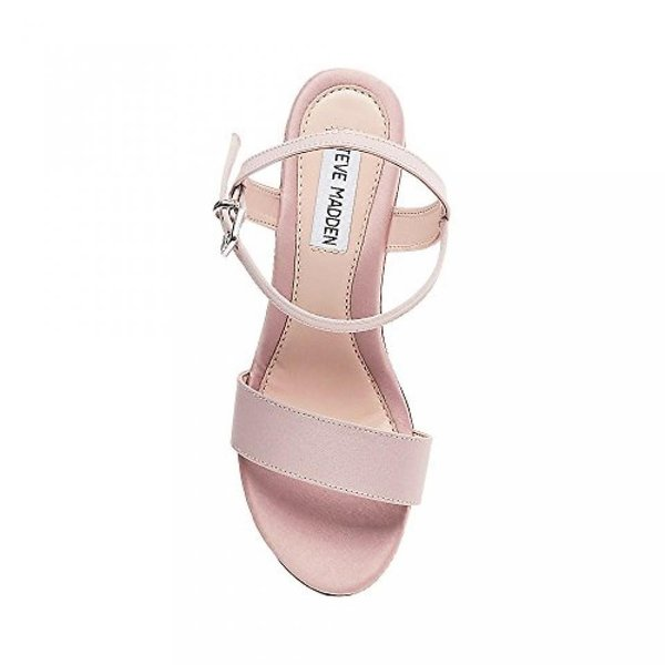 スティーブマデン ブーツ レディース Steve Madden Women's Bria Blush Satin Sandal 6 US 日本未入荷