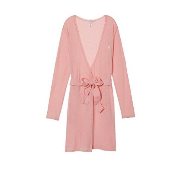ヴィクトリアズシークレット パジャマ 部屋着 ワンピース ルームウェア Victoria's Secret Sleepover Knit Robe Cloud Pink Medium レディース
