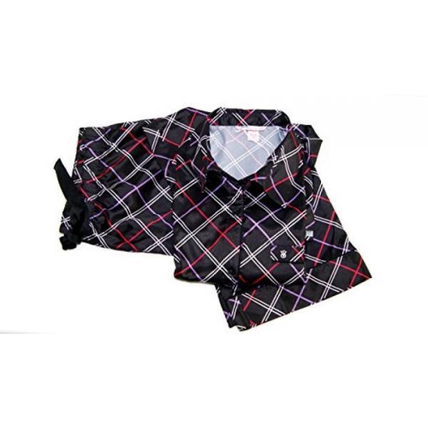 ヴィクトリアズシークレット パジャマ 部屋着 ワンピース ルームウェア Victoria's Secret The Afterhours Satin Pajama 2 Piece Set Black Plaid Large Long