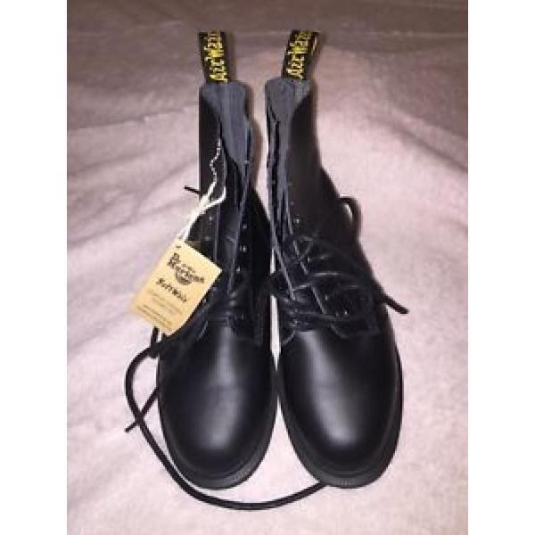 ドクターマーチン ブーツ レディース Dr. Doc Martens Whiton Black Soft Wair Comfort Boots Women's US 5 EU36 NWT レースアップ