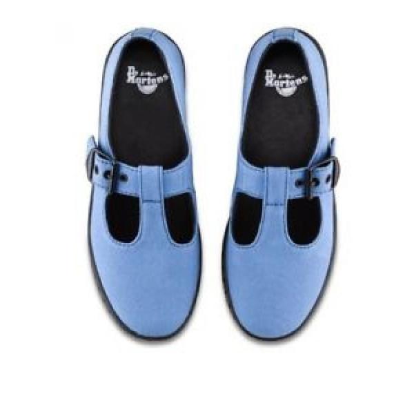 ドクターマーチン ブーツ レディース Dr Martens Mary Jane T Strap Blue Woolwich US Women's Size 9 *PRICE REDUCTION* レースアップ