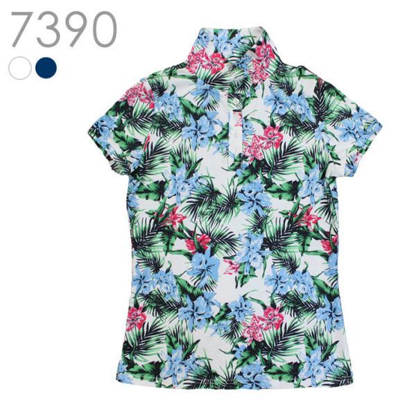 【特別価格】花柄ポロシャツ アウトレット SALE レディースゴルフウェア