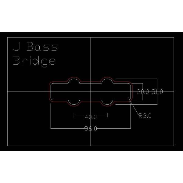 ベース用ピックアップ テンプレートガイド ジャズベース ブリッジ用(リア) delta-groove 03