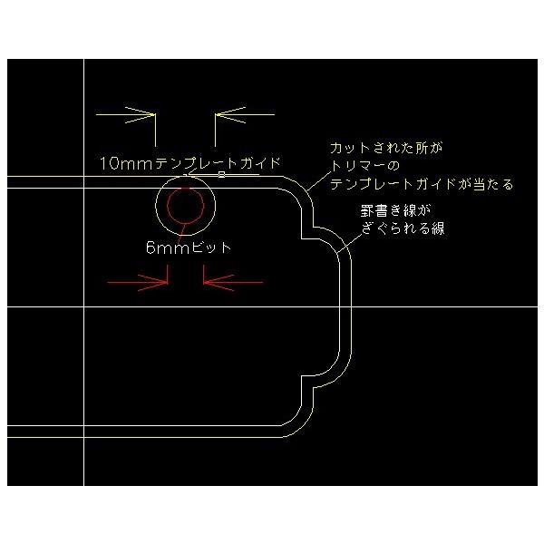 ベース用ピックアップ テンプレートガイド ジャズベース ブリッジ用(リア) delta-groove 05