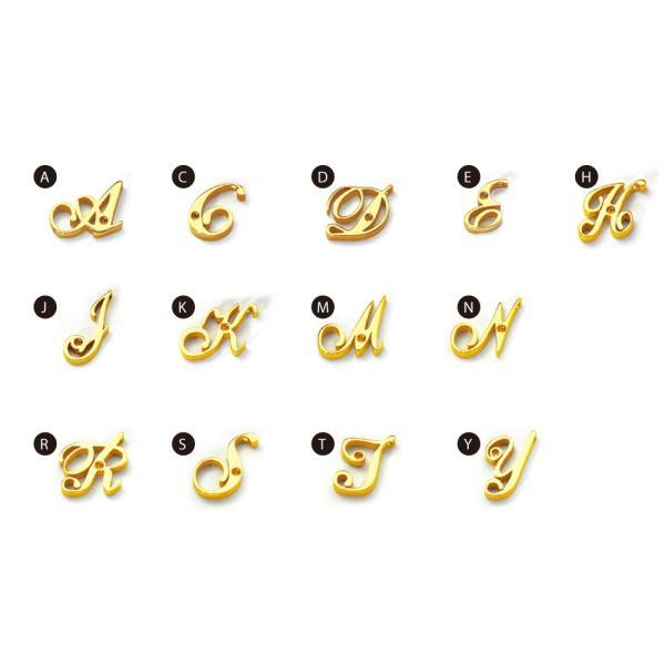 イニシャル コード ブレスレット ゴールド / アルファベット / 誕生石 / カップルペアやプレゼントに最適 /  ゴールド / APZ9001-GD deluxe 02