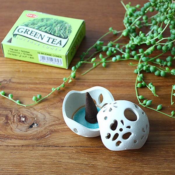 お香立て 陶器 ボール型 おしゃれ|denden-dou3