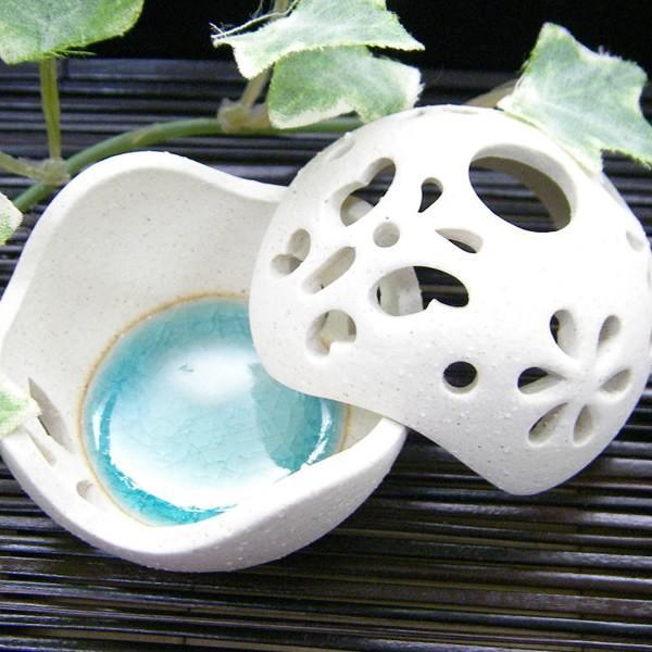 お香立て 陶器 ボール型 おしゃれ|denden-dou3|02