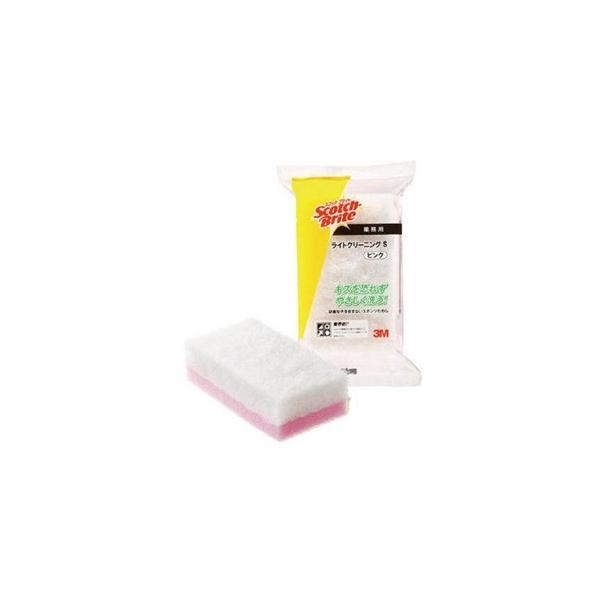 スリーエムジャパン スコッチ・ブライト ライトクリーニングたわしS 業務用 65×120mm 白/ピンク L/CLSPIN