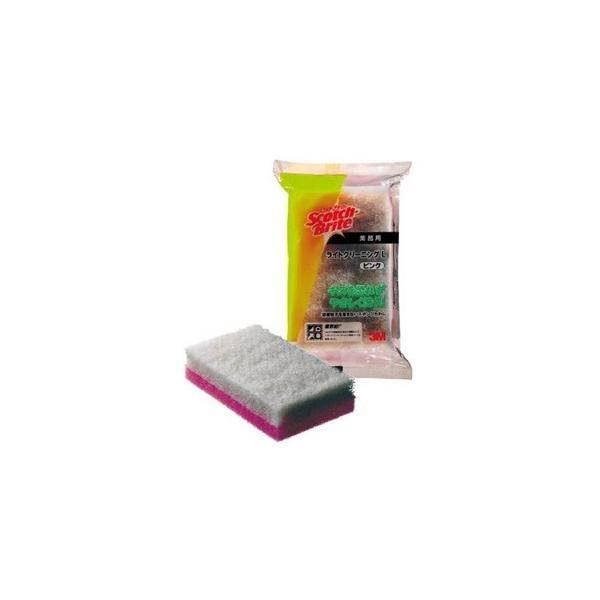 スリーエムジャパン スコッチ・ブライト ライトクリーニングたわしL 業務用 83×140mm 白/ピンク L/CLLPIN