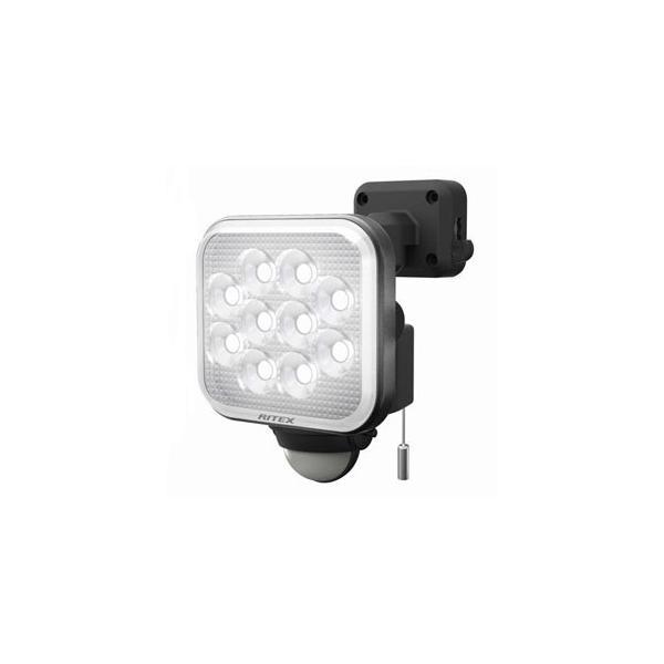 ライテックス フリーアーム式LEDセンサーライト 防雨型 コンセント式タイプ 天井取付可 12W×1灯 1000lm ハロゲン200W相当 ひもスイッチ付 CAC-12