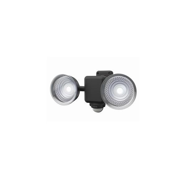 ライテックス フリーアーム式LEDセンサーライト 防雨型 乾電池式タイプ 天井取付可 1.3W×2灯 220lm 白熱球30W相当 CBA-120
