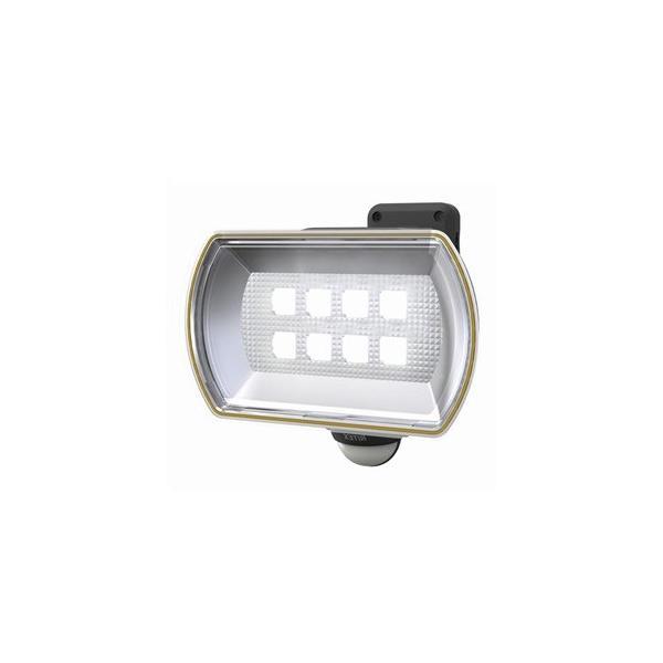 ライテックス フリーアーム式LEDセンサーライト 防雨型 ソーラー式タイプ 天井取付可 8Wワイド 800lm 白熱球120W相当 CSC-80