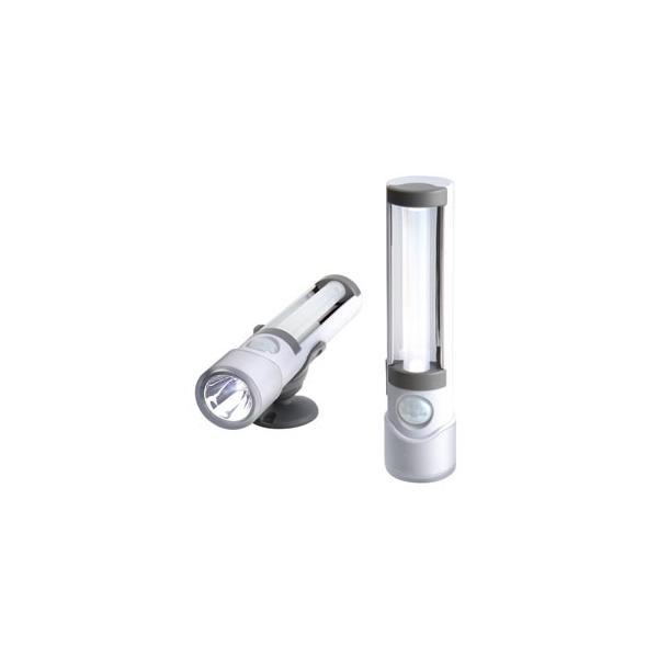 ライテックス 懐中電灯付LEDセンサーライト 電池式 高輝度白色LED球×3灯 ASL-030