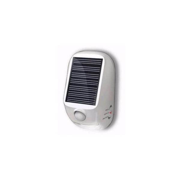 ヤザワ 常時点灯/明暗&人感センサー 屋外用ソーラー式LEDセンサーライト 高輝度白色LED×4灯 乾電池式 NL57WH