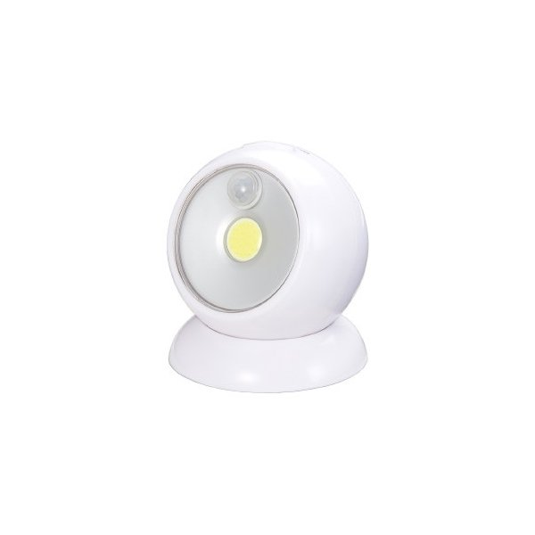 ヤザワ ボールセンサーライト 乾電池式 白色LED 人感・明暗センサー付 NBSMN45WH