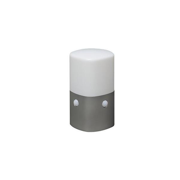 アイリスオーヤマ LEDセンサーライト 屋外用 IP44 スタンドタイプ 角形 電池式 白色 OSL-MN2K-WS