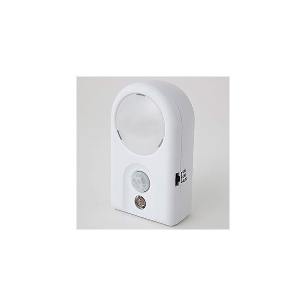 電材堂 ケース販売 10台セット 1LEDミニセンサーナイトライト 乾電池式 白色LED×1灯 人感・明暗センサー付 NL53WHDNZ_set