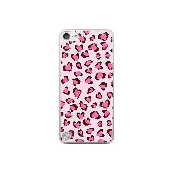 Apple iPod touch 第5世代 ケース カバー (ハートヒョウ柄/ピンク)
