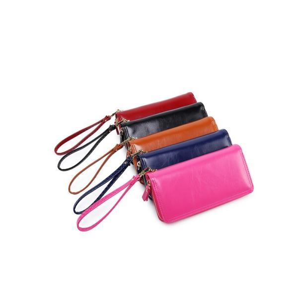 レディース 長財布 二つ折り ラウンドファスナー 小銭入れ 大容量 ヨーロッパ風  PU レザー  wallet
