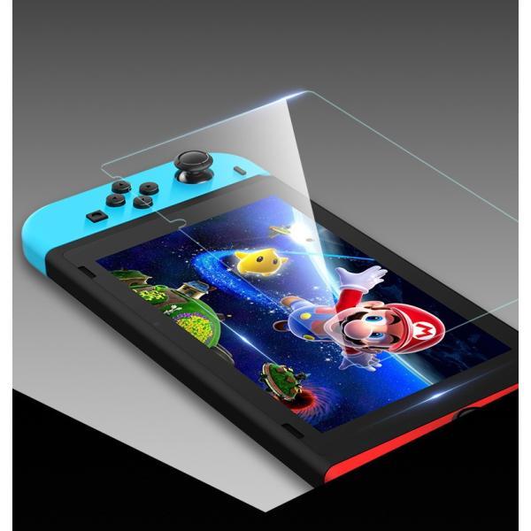Nintendo switch ニンテンドースイッチ 液晶保護フィルムガラスフィルム ブルーライトカット スイッチ全面保護フィルム|denimstorm|03