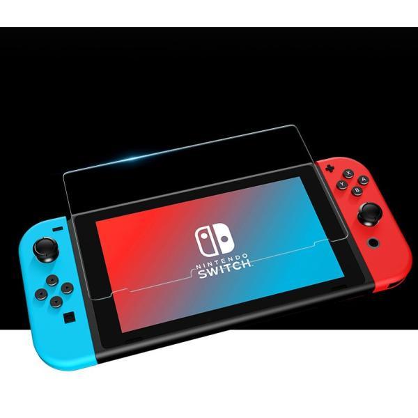 Nintendo switch ニンテンドースイッチ 液晶保護フィルムガラスフィルム ブルーライトカット スイッチ全面保護フィルム|denimstorm|06
