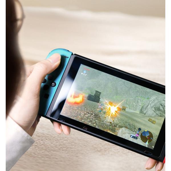 Nintendo switch ニンテンドースイッチ 液晶保護フィルムガラスフィルム ブルーライトカット スイッチ全面保護フィルム|denimstorm|07