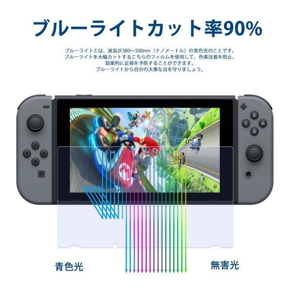Nintendo switch ニンテンドースイッチ 液晶保護フィルムガラスフィルム ブルーライトカット スイッチ全面保護フィルム|denimstorm|08