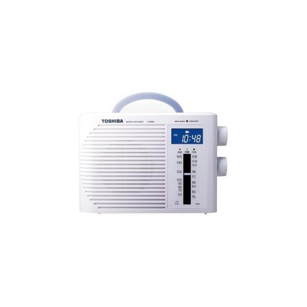 TOSHIBA防水クロックラジオホワイトTY-BR30F-W東芝