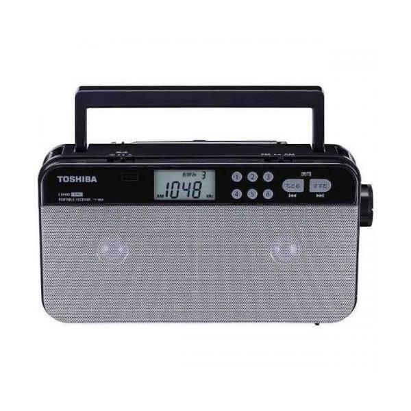東芝 AM/FM ステレオラジオ TY-SR55-S シルバーの画像
