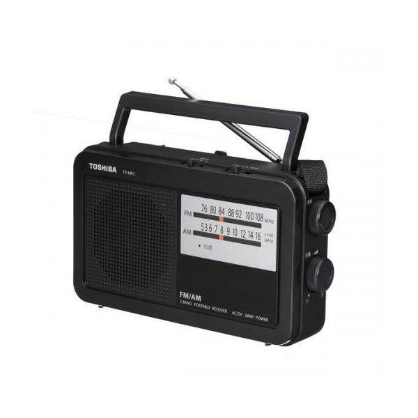 東芝TOSHIBAAMFMホームラジオブラックTY-HR3-K
