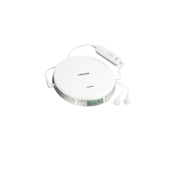 TOSHIBABluetooth対応スピードコントロール付ポータブルCDプレーヤーホワイトTY-P3-W東芝